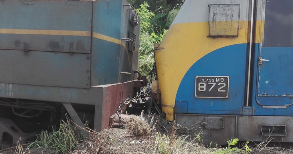 An Oil Train Derailed at Srawasthipura