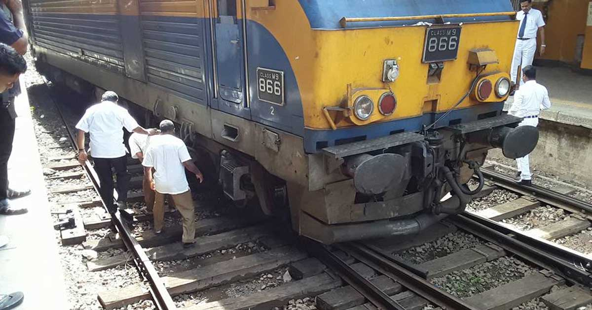 Class M9 866 Derailed at Colombo Fort