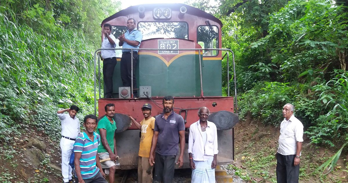 Villagers and Passengers Helped to Clear Matale Railway Line