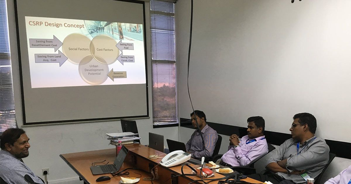 CSRP Presented The Initiatives and Designs of KV Line to Mobitel Officials