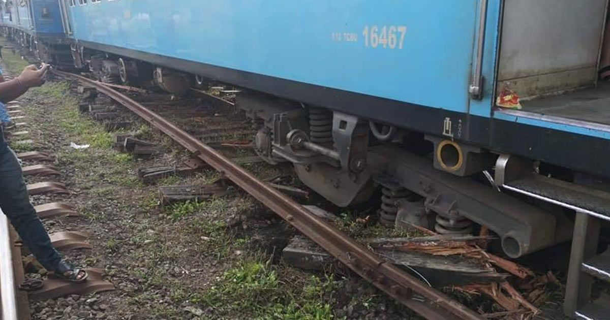 Udarata Menike Train Derailed at Watagoda