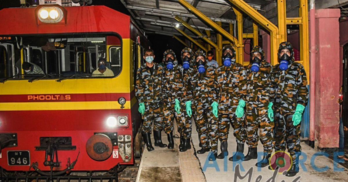 SLAF Disinfects 29 Railway Stations Daily