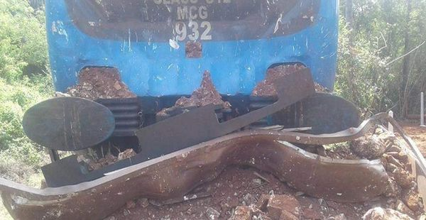 Kankesanthurei Intercity Train Hits a Tractor